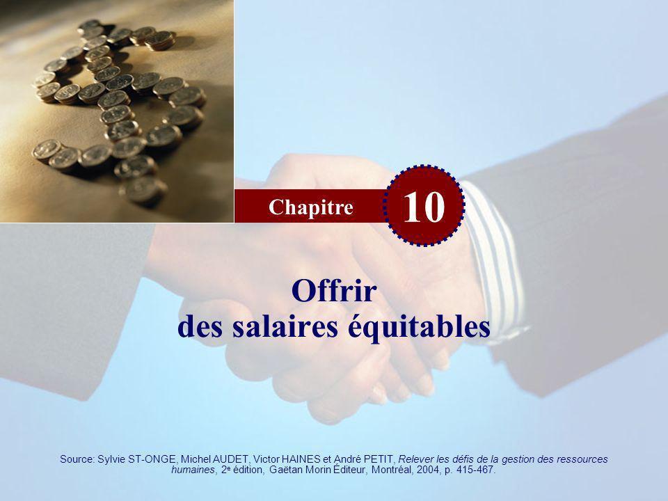 Offrir des salaires équitables