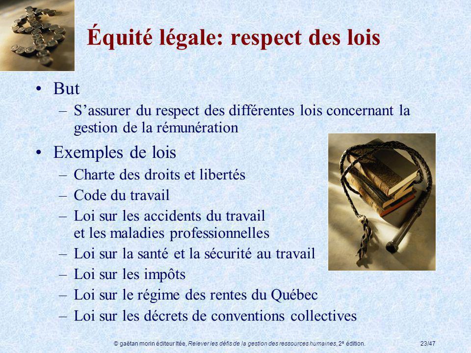 Équité légale: respect des lois