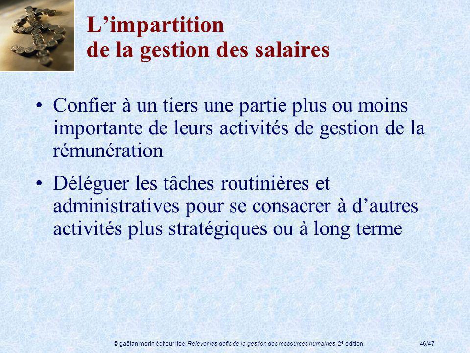 L'impartition de la gestion des salaires