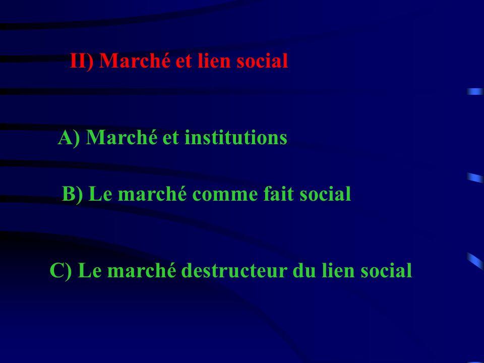 II) Marché et lien social
