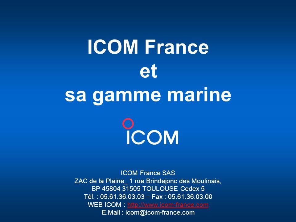 ICOM France et sa gamme marine