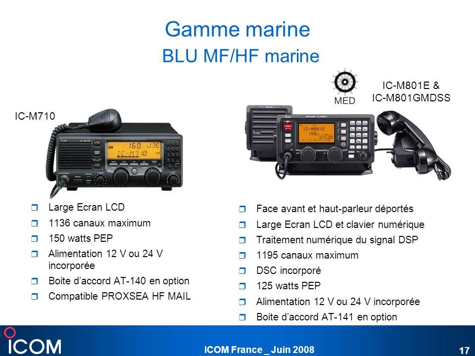 Gamme marine BLU MF/HF marine