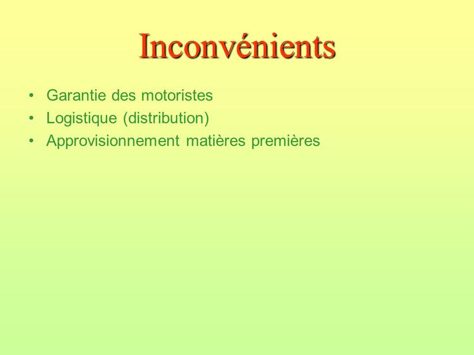Inconvénients Garantie des motoristes Logistique (distribution)