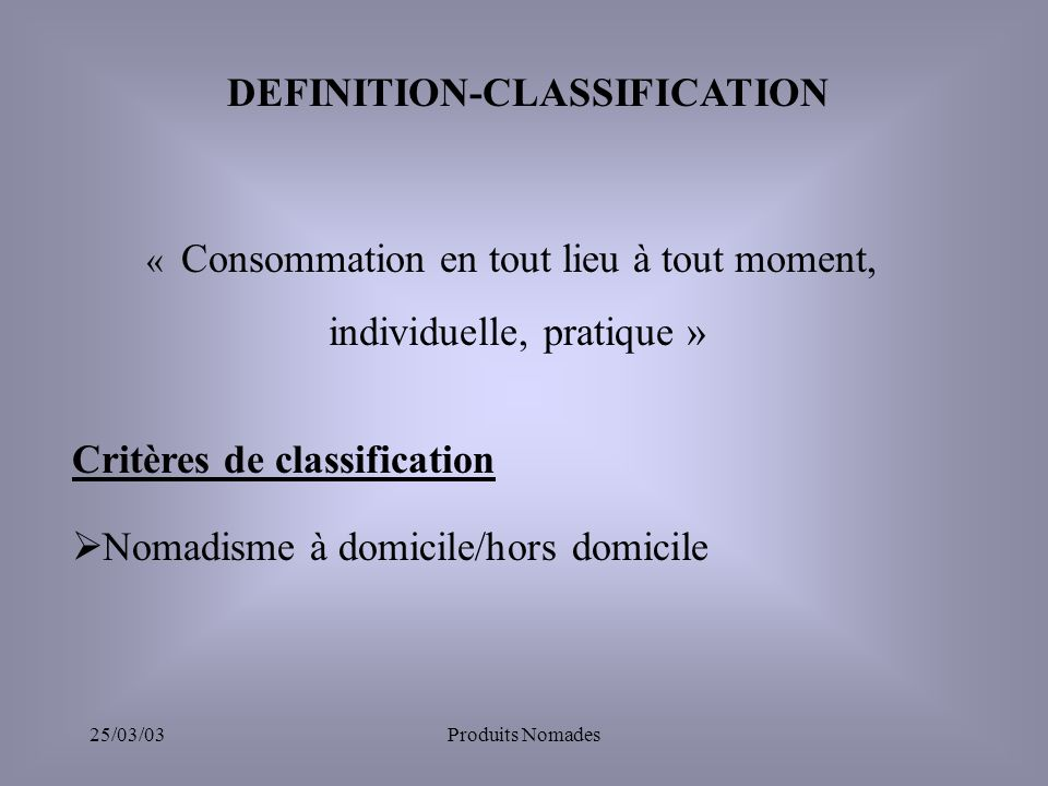 DEFINITION-CLASSIFICATION
