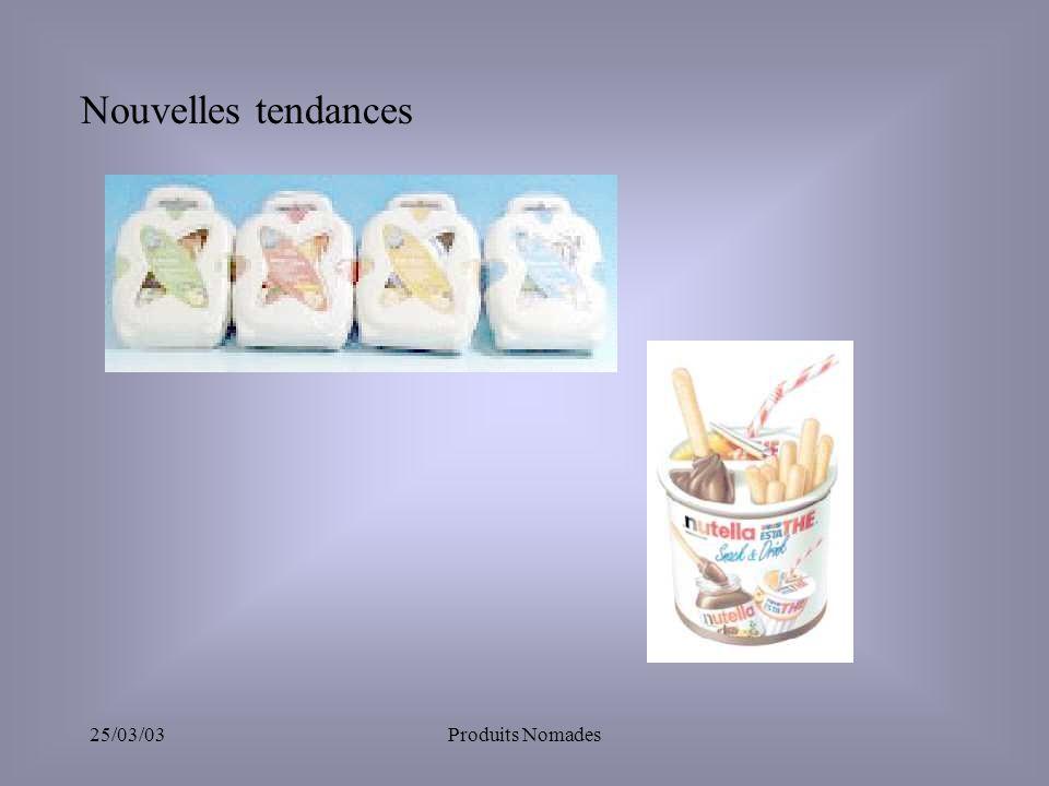 Nouvelles tendances 25/03/03 Produits Nomades