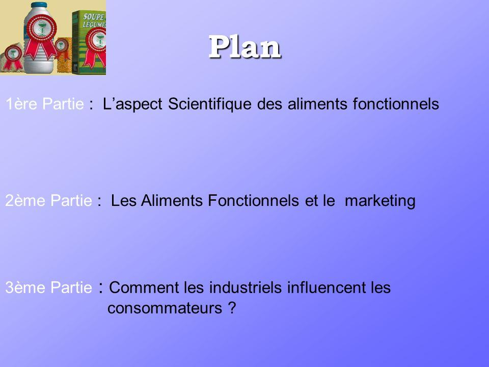 Plan 1ère Partie : L'aspect Scientifique des aliments fonctionnels