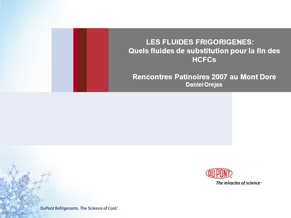 LES FLUIDES FRIGORIGENES: