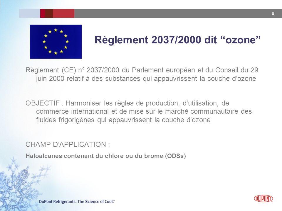 Règlement 2037/2000 dit ozone