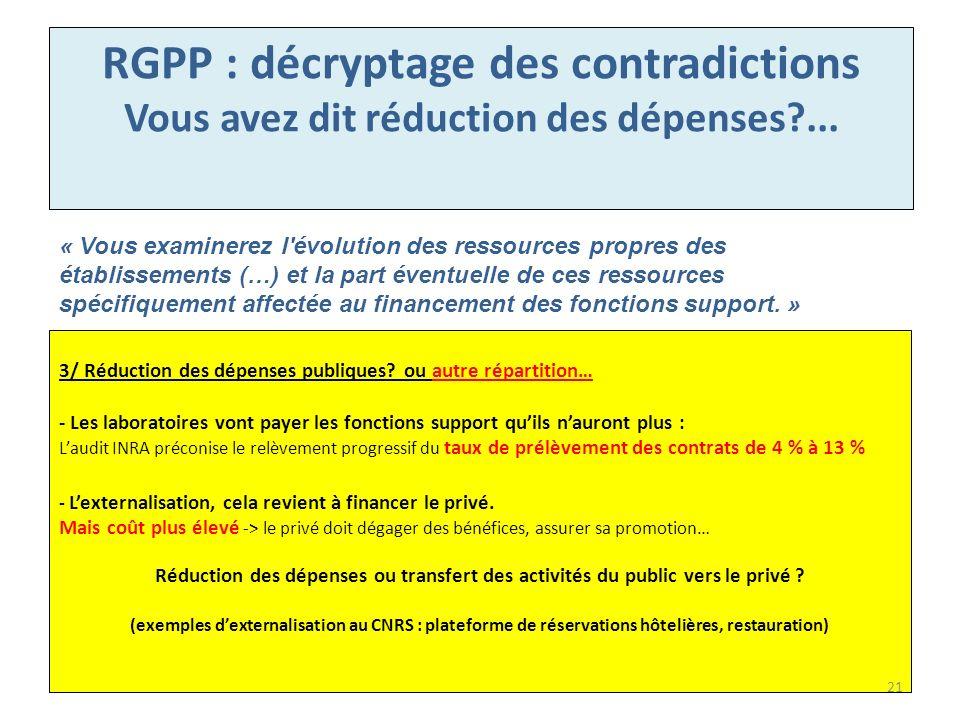 RGPP : décryptage des contradictions