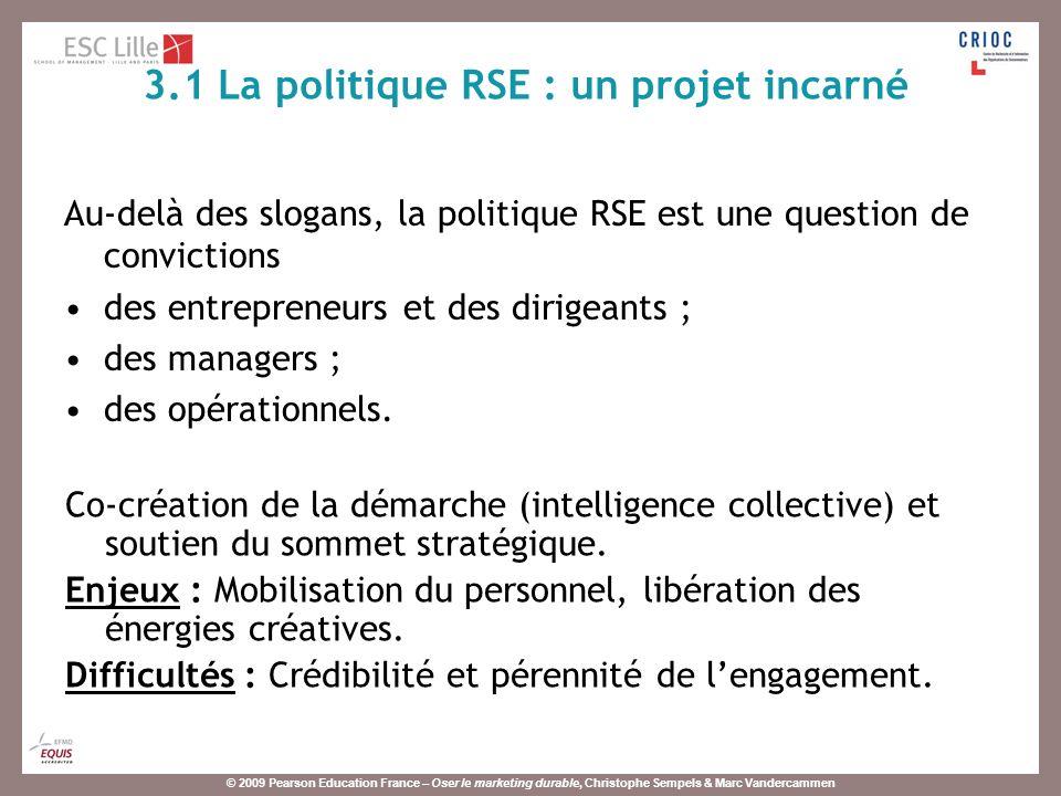 3.1 La politique RSE : un projet incarné