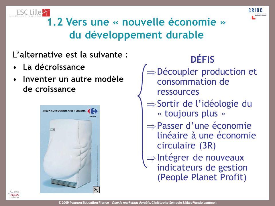 1.2 Vers une « nouvelle économie » du développement durable