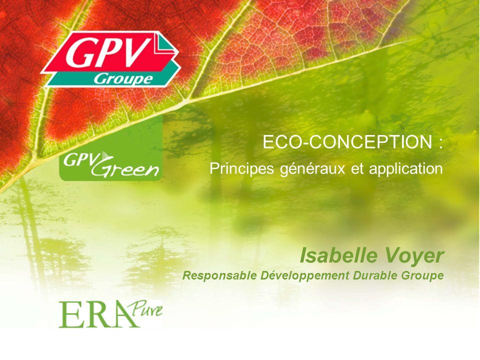 Isabelle Voyer Responsable Développement Durable Groupe