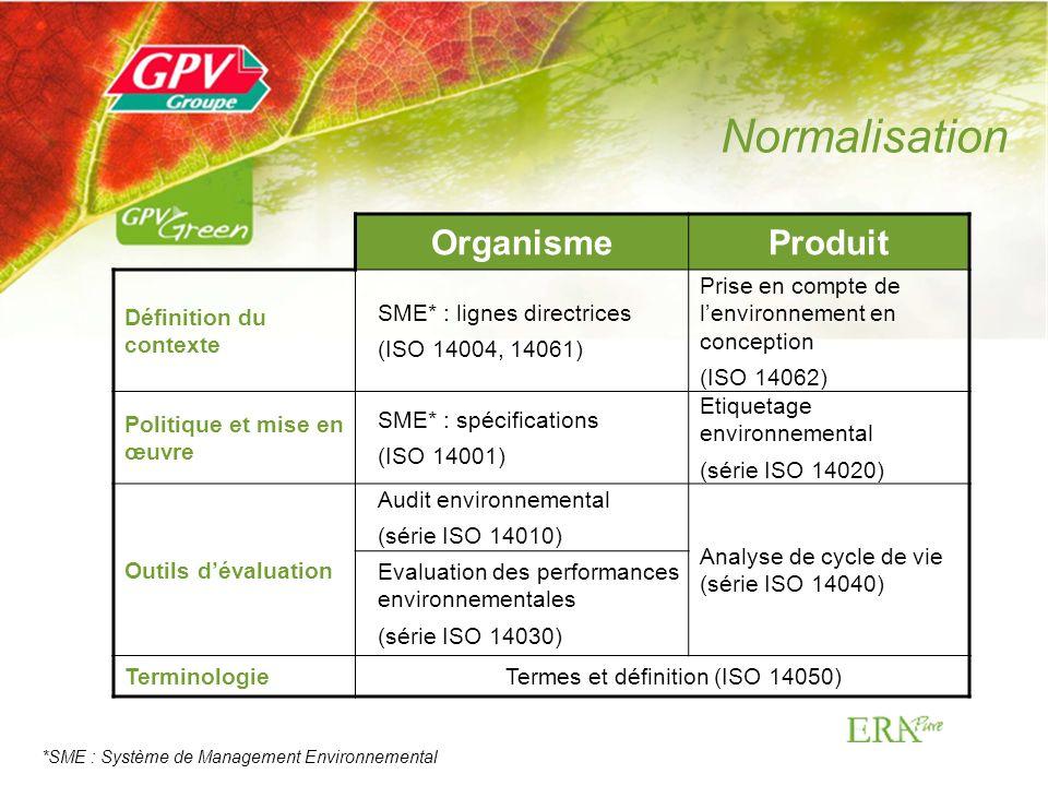 Termes et définition (ISO 14050)
