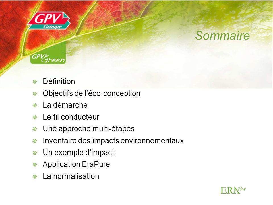 Sommaire Définition Objectifs de l'éco-conception La démarche
