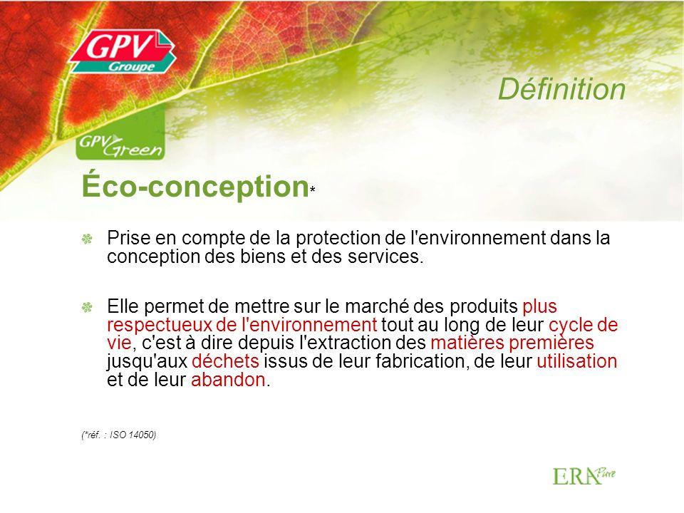 Définition Éco-conception*