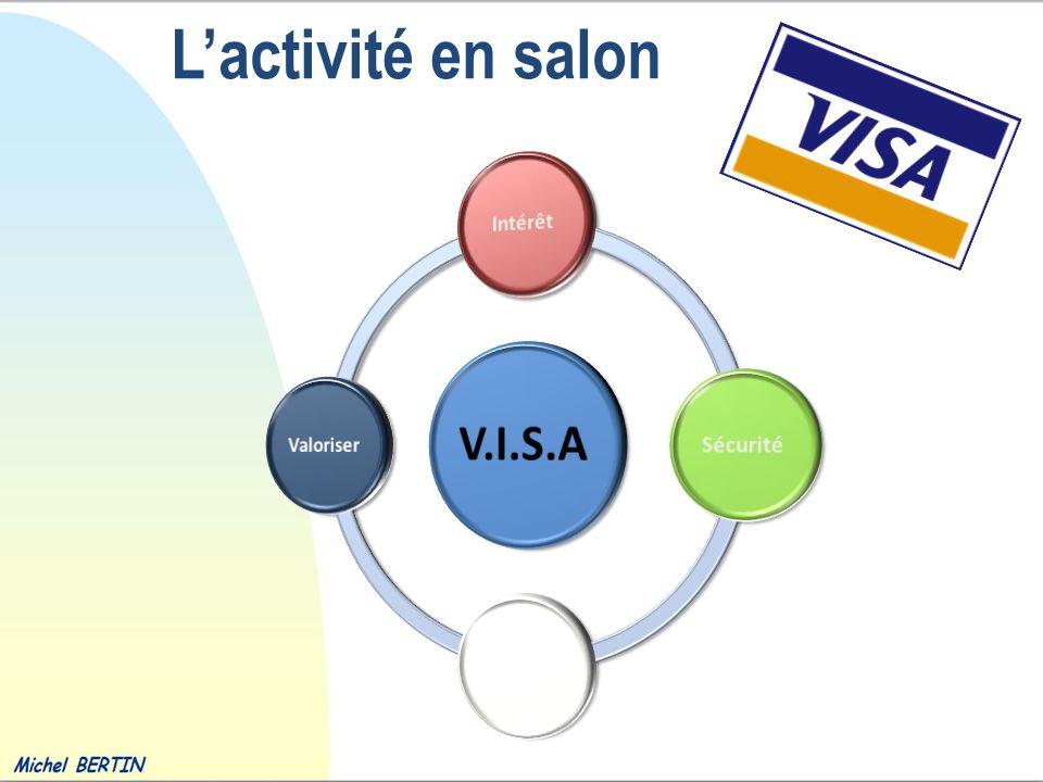 L'activité en salon V.I.S.A Intérêt Sécurité Affectivité Valoriser
