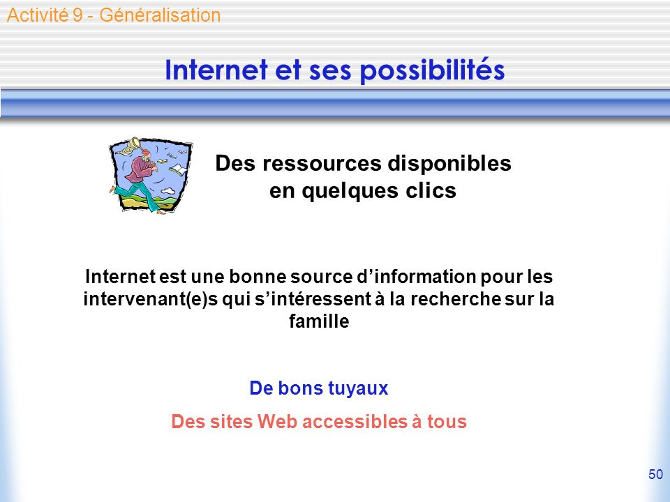 Internet et ses possibilités