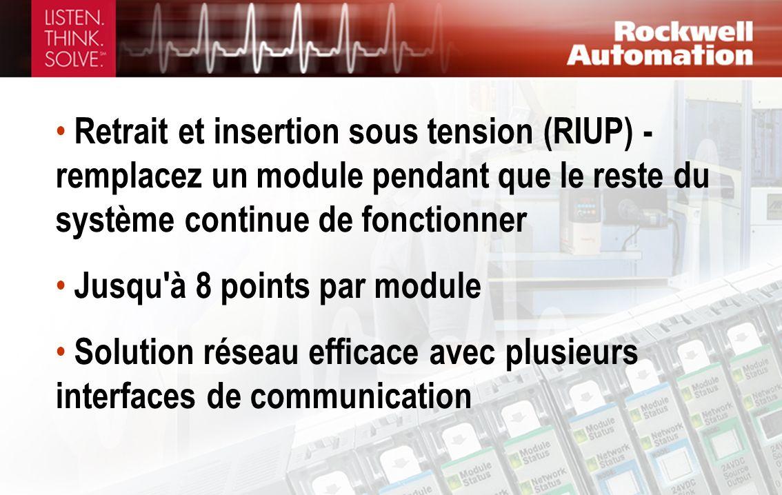 Retrait et insertion sous tension (RIUP) - remplacez un module pendant que le reste du système continue de fonctionner