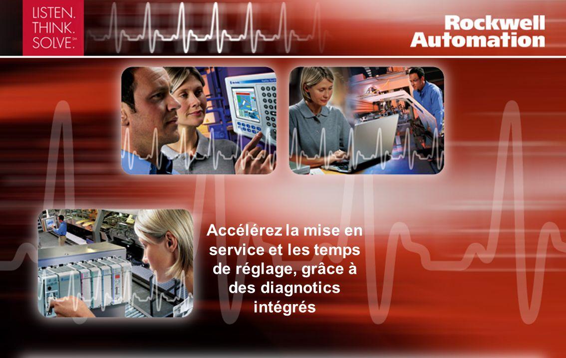 Accélérez la mise en service et les temps de réglage, grâce à des diagnotics intégrés
