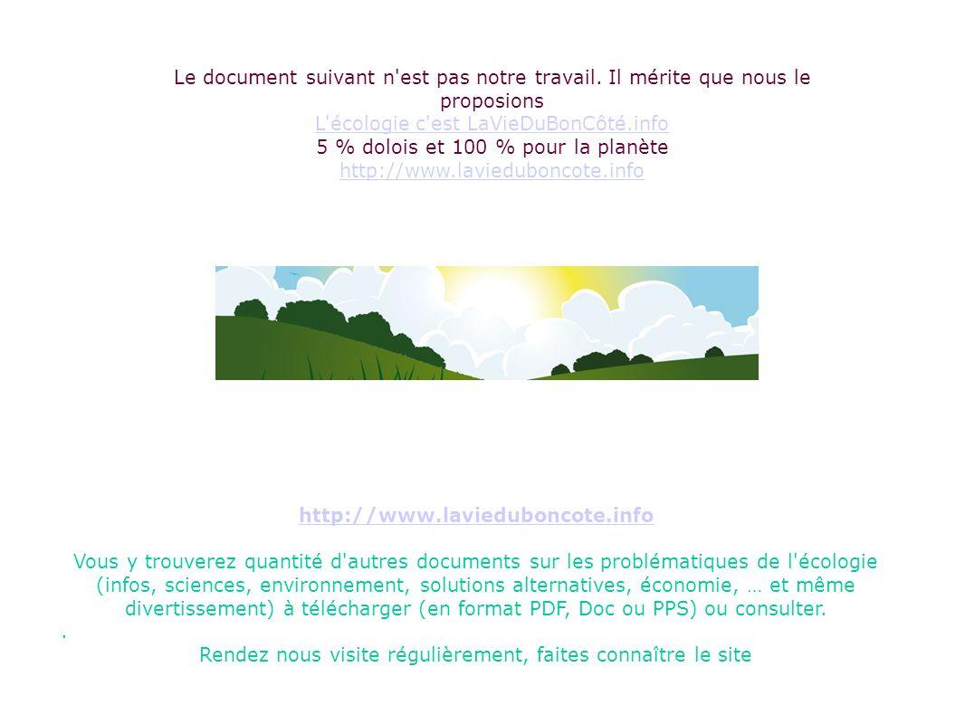 L écologie c est LaVieDuBonCôté.info