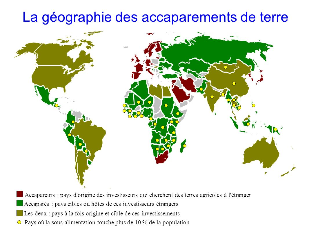 La géographie des accaparements de terre