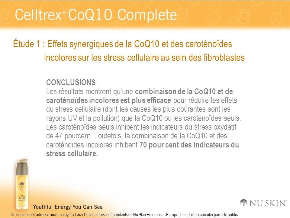 Étude 1 : Effets synergiques de la CoQ10 et des caroténoïdes