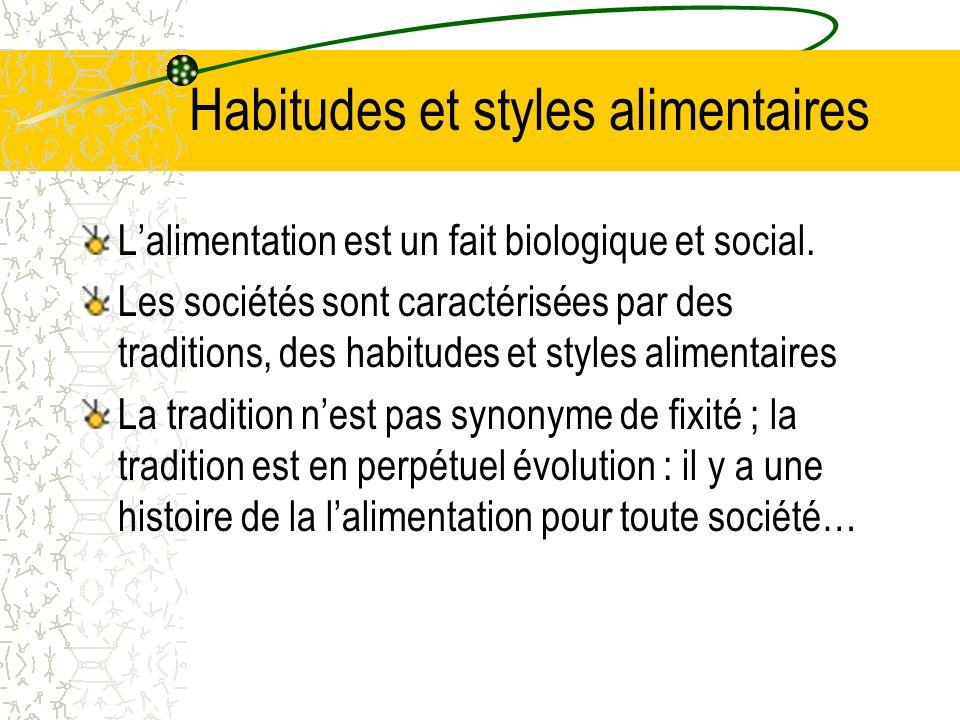 Habitudes et styles alimentaires