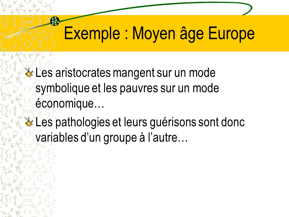 Exemple : Moyen âge Europe