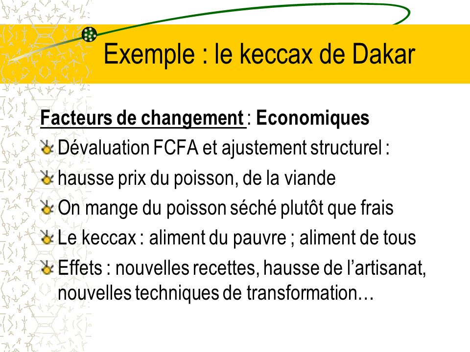 Exemple : le keccax de Dakar