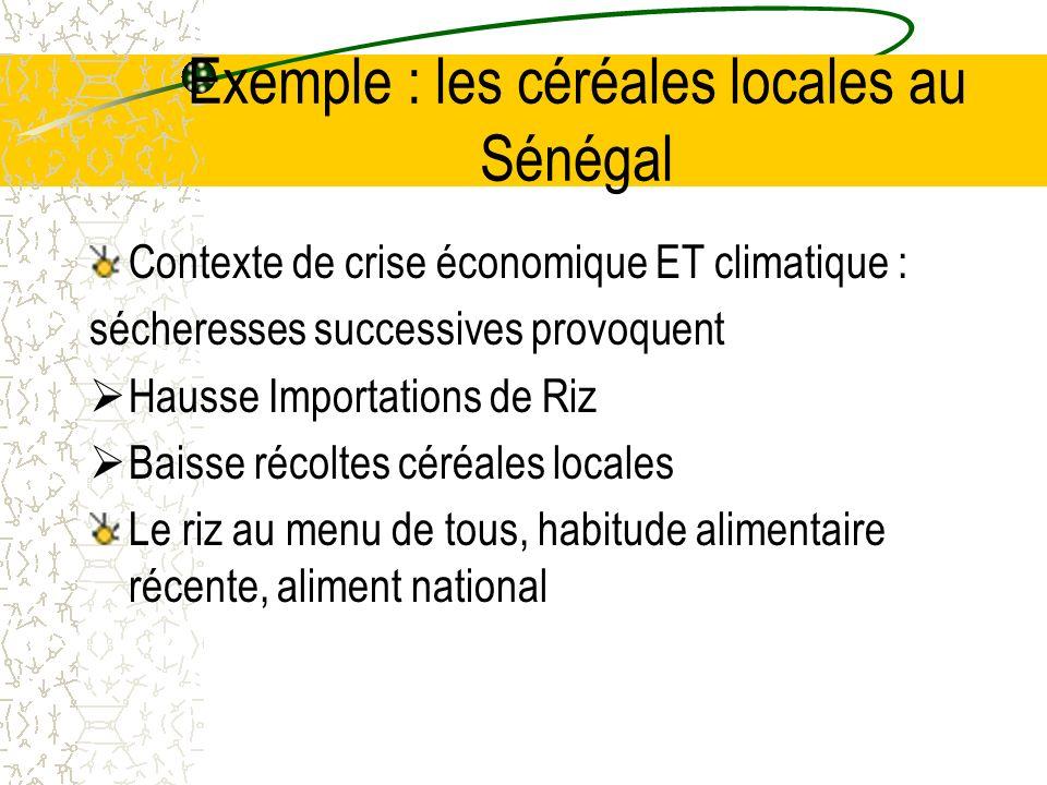 Exemple : les céréales locales au Sénégal