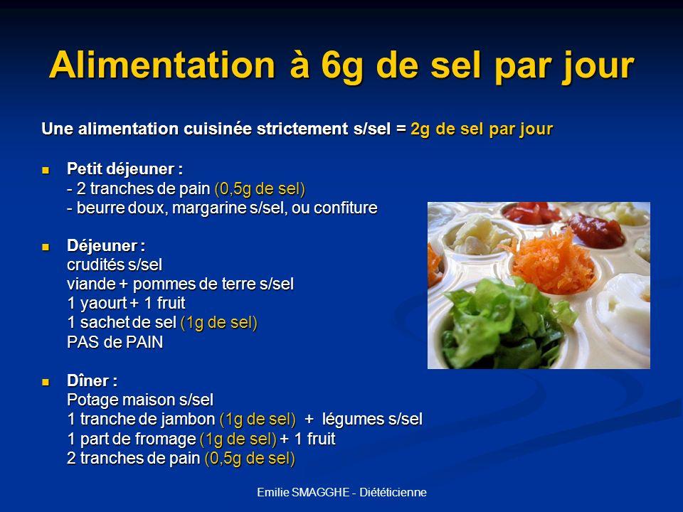 Alimentation à 6g de sel par jour