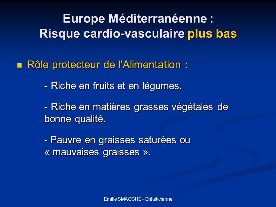 Europe Méditerranéenne : Risque cardio-vasculaire plus bas