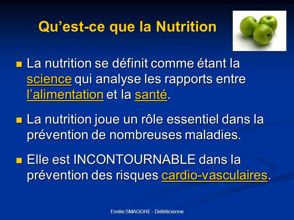 Qu'est-ce que la Nutrition