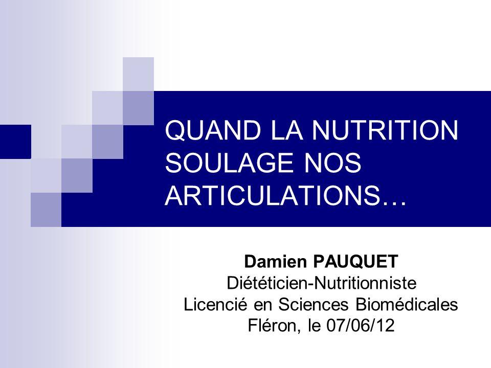 QUAND LA NUTRITION SOULAGE NOS ARTICULATIONS…