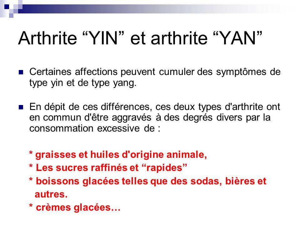 Arthrite YIN et arthrite YAN