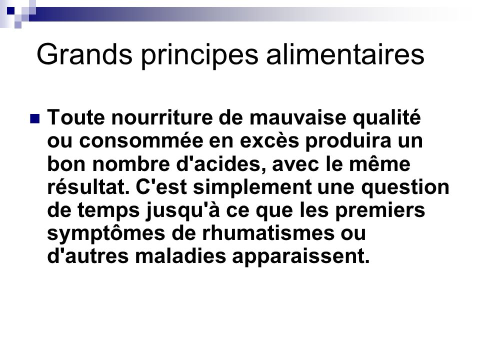 Grands principes alimentaires