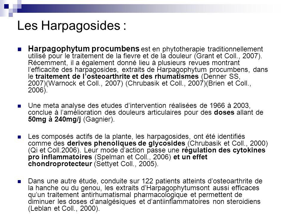 Les Harpagosides :