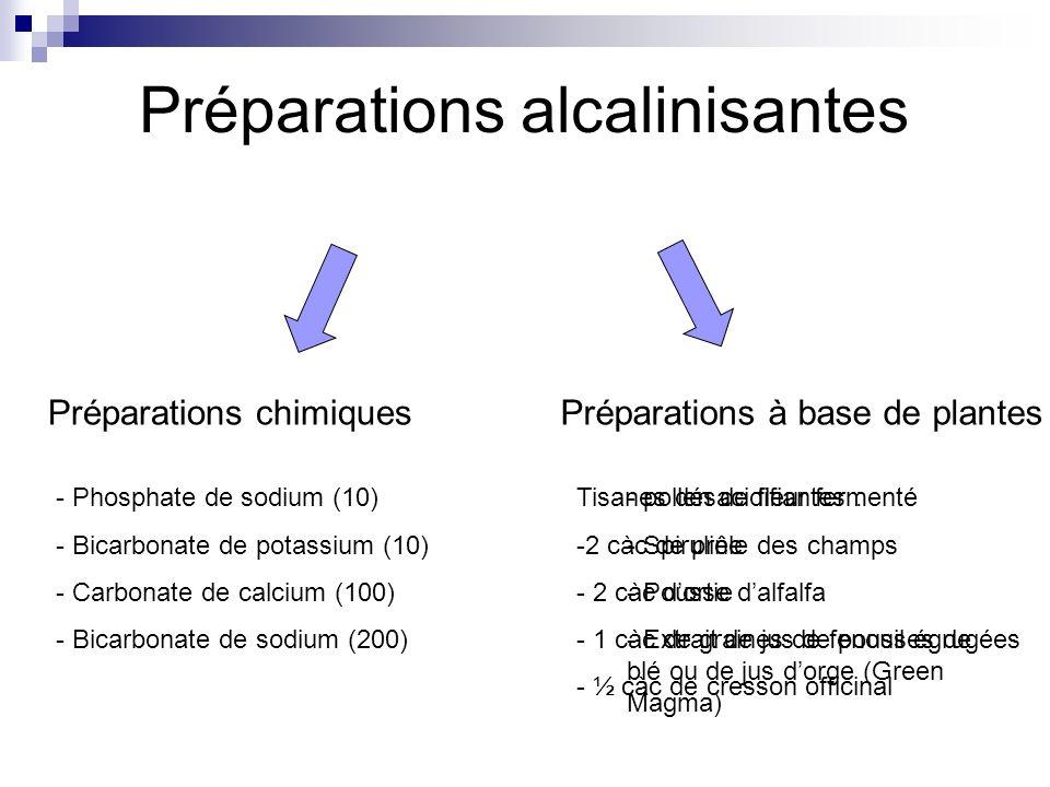 Préparations alcalinisantes
