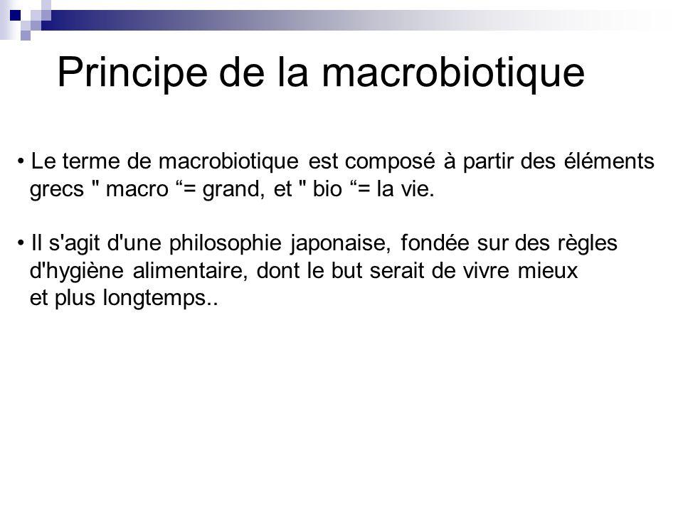Principe de la macrobiotique