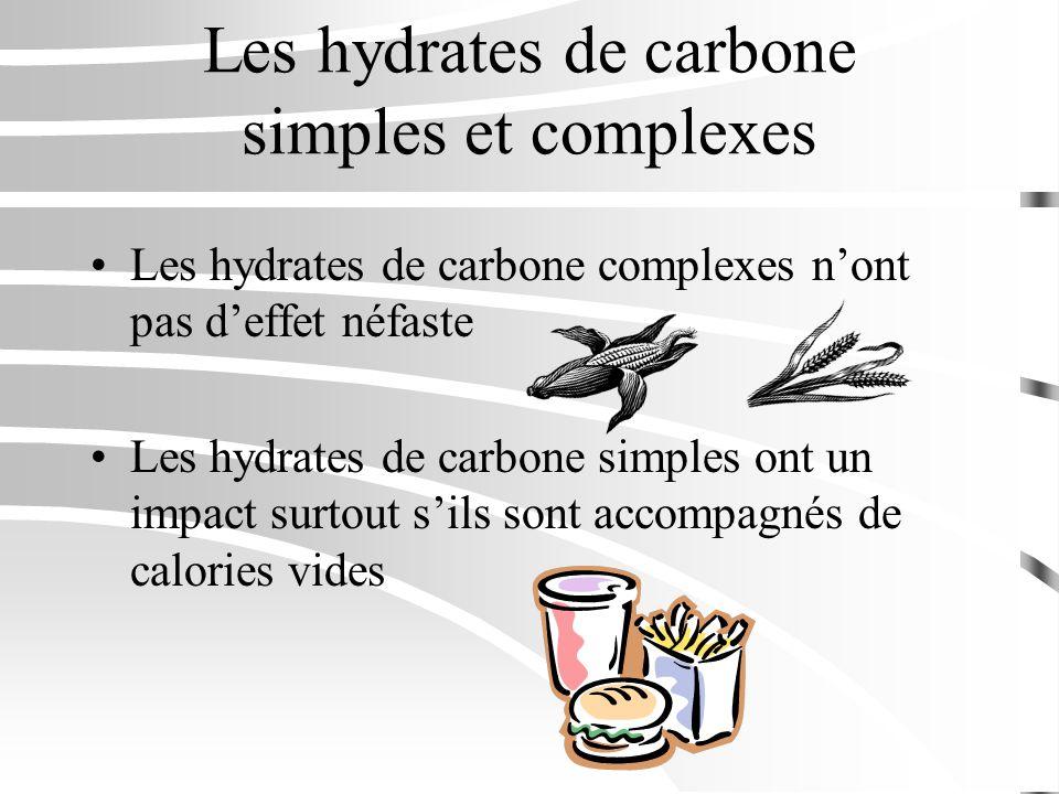 Les hydrates de carbone simples et complexes