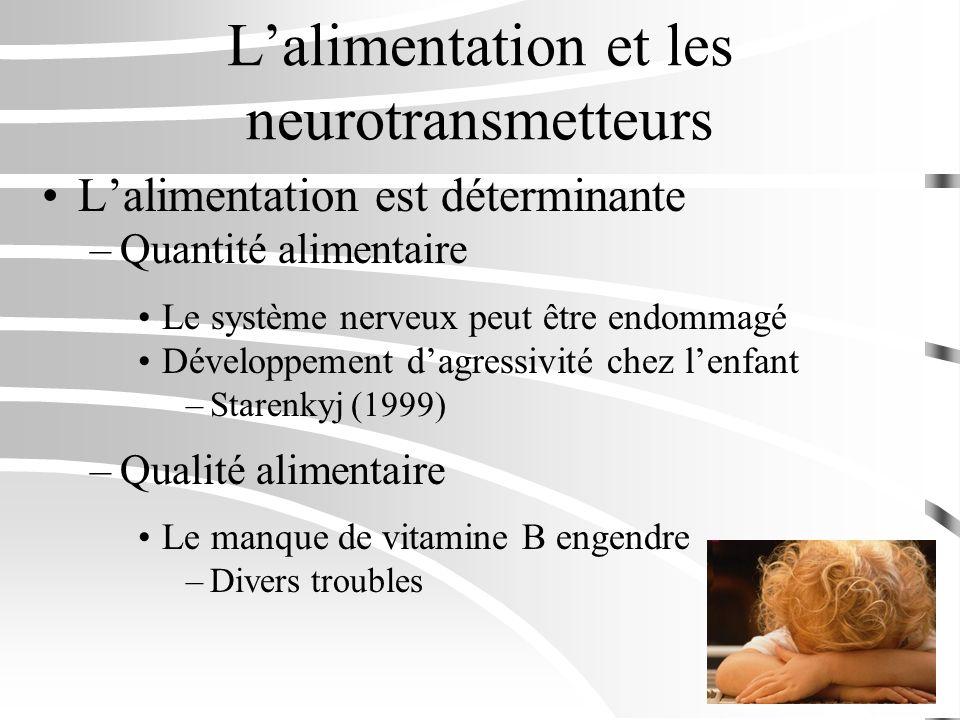 L'alimentation et les neurotransmetteurs