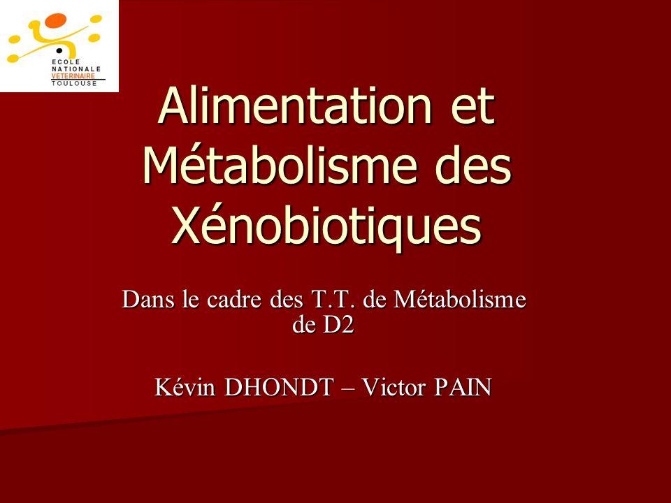 Alimentation et Métabolisme des Xénobiotiques