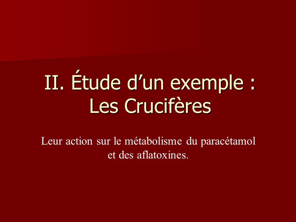 II. Étude d'un exemple : Les Crucifères
