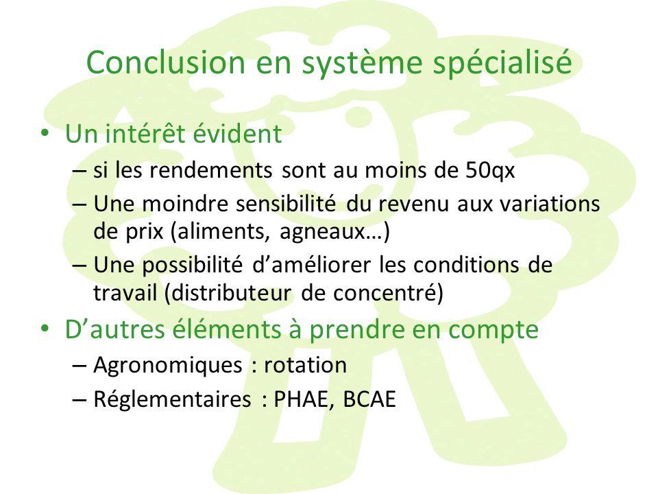 Conclusion en système spécialisé
