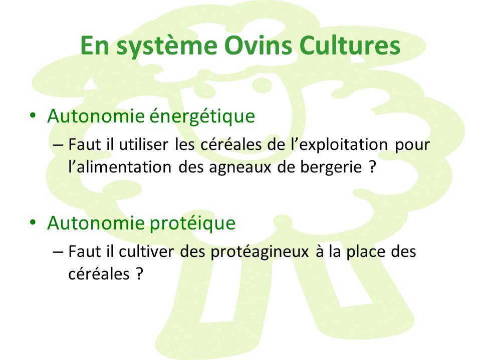 En système Ovins Cultures