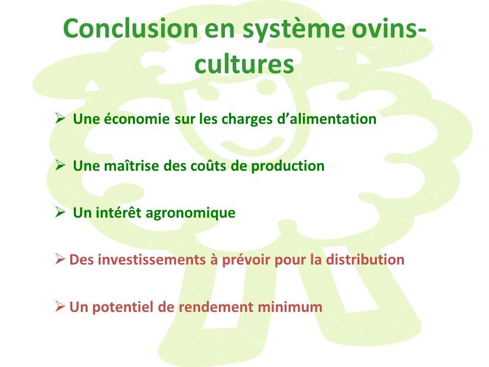 Conclusion en système ovins-cultures