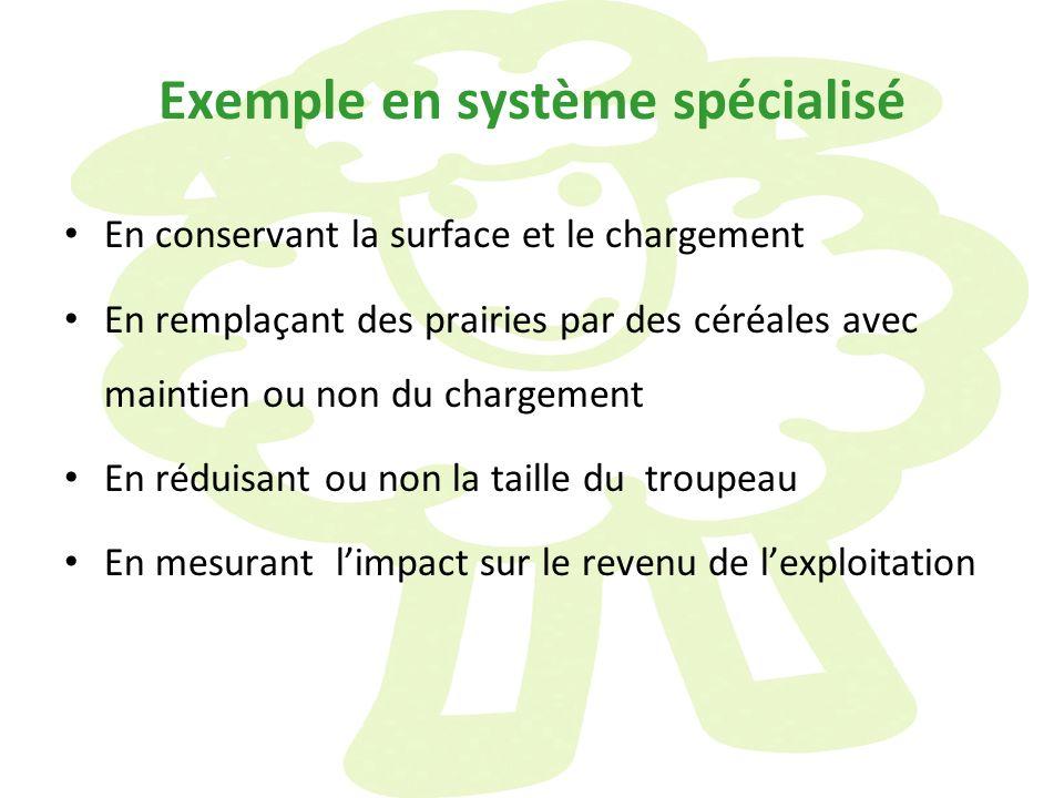 Exemple en système spécialisé