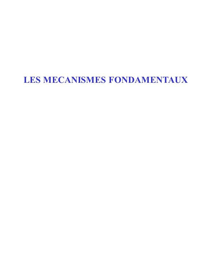 LES MECANISMES FONDAMENTAUX