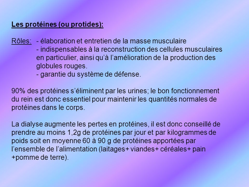 Les protéines (ou protides):