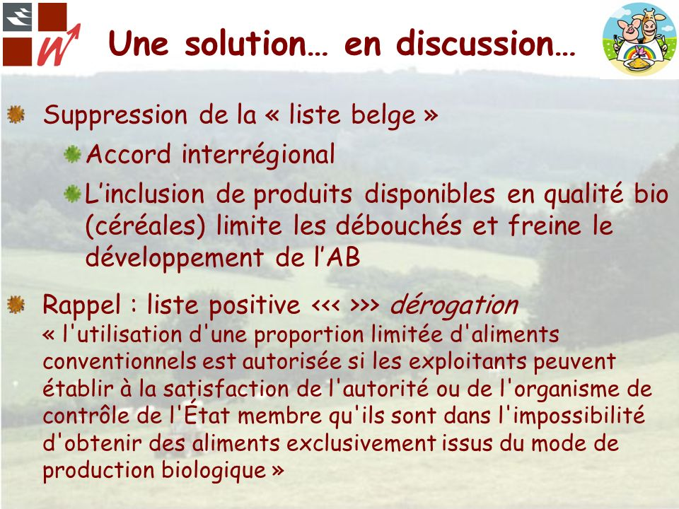Une solution… en discussion…